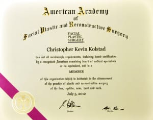 AAFPRS certificate