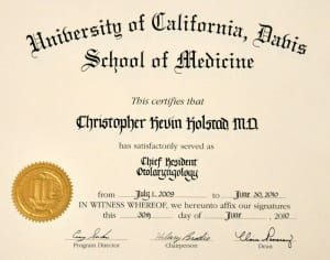 UCD chief resident
