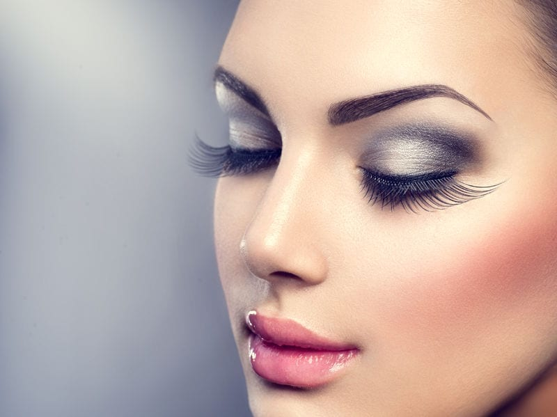 43729544 - beautiful fashion luxury makeup. long eyelashes, perfect skin